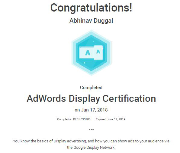 Google Adword Display Certified Partner